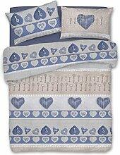 ANGEBOT: Bettbezug Single aus Baumwolle–Liebe Herz Geheimnis Herzen Schlüssel Farbe Blù–Beutel Bettbezüge Love