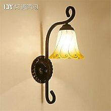 ANGEELEE Kreative Amerikanische idyllische Schlafzimmer Bett eiserne Wand Lampen Wohnzimmer Flur einzelne Scheinwerfer für die Dekoration