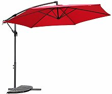 Angel Living 5810250 Ampelschirm Sonnenschirm Gartenschirm Kurbelschirm Strandschirm Marktschirm Handkurbel 3M, aus Aluminium, Stahl und Polyester(Rot)