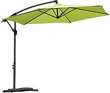 Angel Living 5810270 Ampelschirm Sonnenschirm Gartenschirm Kurbelschirm Strandschirm Marktschirm Handkurbel 3M, aus Aluminium, Stahl und Polyester(Apfelgrün)