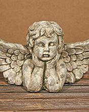 ANGEL RAFAEL Grosse Deko Büste im Antikfinish