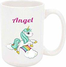 Angel Unicorn 11oz Kaffee- oder Teebecher White
