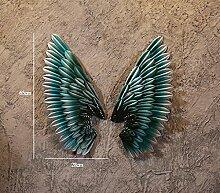 Angel Wing Art Wand dekorative Eisen retro bar Wand LOFT Dekorationen ( Farbe : 7# )