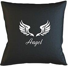 Angel Wings Peace Kissenbezug Haus Sofa Bett Dekor Schwarz