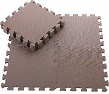Angela-homestyle™ 9 tlg Puzzlematte Spielmatte Spielteppich Schaumstoff EVA GYM DIY Puzzle Kinderteppich (30cm x 30cm) (Brown)