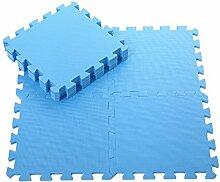 Angela-homestyle™ 9 tlg Puzzlematte Spielmatte Spielteppich Schaumstoff EVA GYM DIY Puzzle Kinderteppich (30cm x 30cm) (Blue)