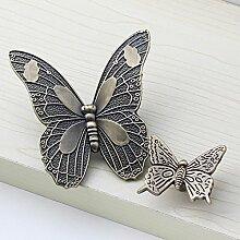 Angela-homestyle™ Antike Schmetterling Möbelgriffe Schrankgriff Schubladengriff Möbelknopf (80x85x20mm)