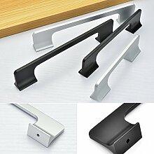 Angela-homestyle™ Überzug Aluminium Möbelgriffe Möbelknopf Möbelgriff Schrankgriff Schubladengriff Küchengriff (224mm, Schwarz)