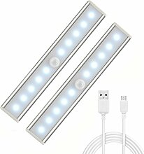 AngelaKerry 2er Set 10 LED USB Wiederaufladbar