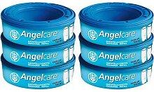 Angelcare Nachfüllkassetten Plus, 6er-Pack blau