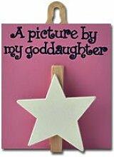 Angelic Hen ein Bild von My Goddaughter Lovely Gott Eltern Geschenkidee