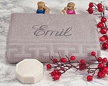 AngelicArt Personalisiertes Handtuch mit Namen,