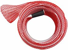 Angeln Pole Protector Sock Net Beliebte Casting Angelruten geflochtenen Hülle Handschuh Cover Protector (Rot)