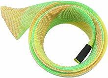 Angeln Pole Protector Sock Net Beliebte Casting Angelruten geflochtenen Hülle Handschuh Cover Protector (Gelb)