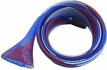 Angeln Pole Protector Sock Net Beliebte Casting Angelruten geflochtenen Hülle Handschuh Cover Protector (Blau)