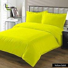 Angenehme 1Stück Bett Rock Classy 400TC, gelb massiv King 100% ägyptische Baumwolle extra tief Tasche (15Zoll)–von TRP Blatt–A27