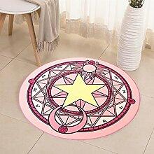 Anger UU Runder Teppich für Kinder Schlafzimmer