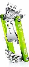 ANGGO11 in 1 Multifunktions-beweglicher Fahrrad-Reparatur-Werkzeug-Satz mit Schlüssel-Schraubenzieher-Kombinations-Ketten-Schneidwerkzeug-Werkzeuge