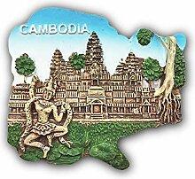 Angkor Wat Kambodscha 3D Kühlschrank Magnet Reise