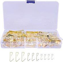 Angoily 100Pcs Goldene Bild Kleiderbügel Kit