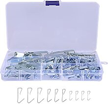 Angoily 100Pcs Silber Bild Kleiderbügel Kit Heavy