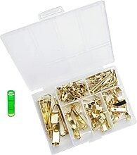 Angoily 130Pcs Goldene Bild Kleiderbügel Kit