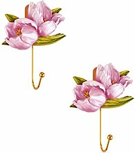 Angoily 2Pcs Wand Montiert Haken Blume Harz Mantel