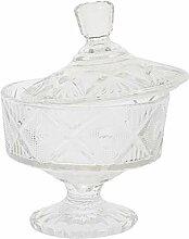 Angoily Transparente Glas Bonbonniere mit Deckel