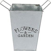 Angoily Verzinktem Blume Pflanze Töpfe mit Griffe