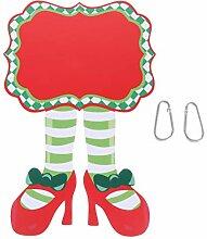 Angoily Weihnachten Hängendes Zeichen Tür
