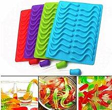 Angoter 20 Cavity Silikon Gummy Schlange Worms
