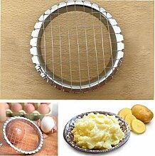 Angoter Edelstahl Eierschneider Cutter Cut Egg