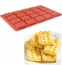 Angoter Mini 20 Löcher rechteckig Biscuit Box