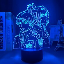 Angriff auf Titan Levi Ackerman Acryl 3d Lampe