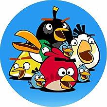 Angry Birds Runde Torten Druck Bild auf A4