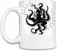 Angry octopus Kaffee Becher
