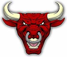 Angry Red Bull Head Mascot