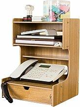 Anguang Bürobedarf Desktop Finishing Box Multifunktionale Holzschublade Aufbewahrungsbox Dekoration Stil 5
