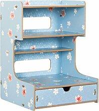 Anguang Bürobedarf Desktop Finishing Box Multifunktionale Holzschublade Aufbewahrungsbox Dekoration Stil 2
