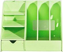 Anguang Dekoration Bürobedarf Desktop Finishing Box Multifunktionale Holzschublade Aufbewahrungsbox Grün