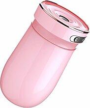 ANHPI 300ml Auto Luftbefeuchter Spray Auto Aromatherapie Mini Hause USB Kreative Kleine Büro Luftreiniger,Pink