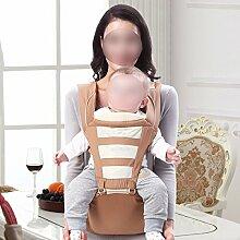ANHPI Babytrage Rucksack Ergonomisches Design Atmungsaktive Mesh-Einlage Schultern Abnehmbar Abnehmbarer Sitz Komfort Tresor,Yellow
