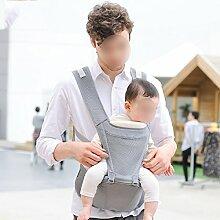 ANHPI Babytrage Rucksack Ergonomisches Design Atmungsaktive Mesh-Einlage Multifunktionales Herausnehmbar Abnehmbarer Sitz Komfort Tresor,Grey