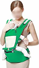 ANHPI Babytrage Rucksack Ergonomisches Design Atmungsaktive Mesh-Einlage Adjustable Mehrzweck- Rucksack Wrap Babyhalter Safe Comfort,Green