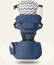 ANHPI Babytrage Rucksack Ergonomisches Design Atmungsaktive Mesh-Einlage Abnehmbar Abnehmbarer Sitz Komfort Tresor,Blue
