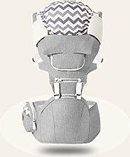 ANHPI Babytrage Rucksack Ergonomisches Design Atmungsaktive Mesh-Einlage Abnehmbar Abnehmbarer Sitz Komfort Tresor,Grey