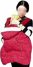 ANHPI Babytrage Rucksack Ergonomisches Design Atmungsaktive Mesh-Einlage Warme Decke Abnehmbar Abnehmbarer Sitz Komfort Tresor,Red