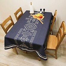 ANHPI Minimalistisch Ethnische Art Baumwollmischungen Nach Hause Einfach Terrasse Tischdecke Multi-Größe Mehrfarben Ornamental Design,D-140*230cm