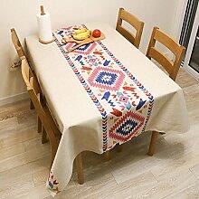 ANHPI Minimalistisch Ethnische Art Baumwollmischungen Nach Hause Einfach Terrasse Tischdecke Multi-Größe Mehrfarben Ornamental Design,C-100*140cm