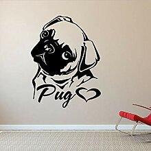 Animal Love Heart PVC Wandaufkleber Aufkleber für